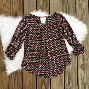Papermoon for Stitch Fix 3/4 Sleeve Blouse Shirt